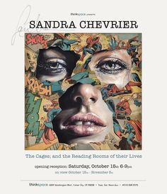 Thinkspace is pleased to present new works by Sandra Chevrier in the gallery's first solo exhibition for the Canadian artist, The Cages; and the Reading Rooms of their Lives. Based in Montréal, Chevrier creates mixed media works that combine sensuously rendered portraits of women with painted and collaged comic book overlays of superheroes.
