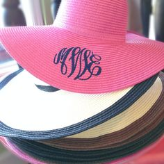 monogrammed sun hats!