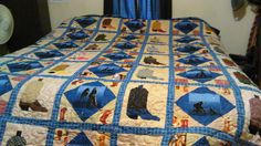 Sherry got creative with this cowboy boot quilt! This quilt is really kickin'! Great job, Sherry.   Do you like working on themed quilts like this?