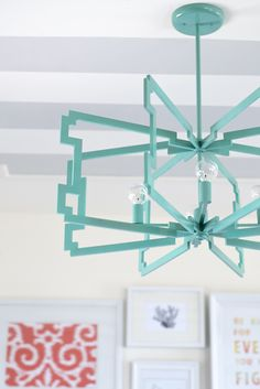 CWTS Upcycle Entry- Amazing Statement light fixture from drop ceiling framing.  Check out the post to see how!