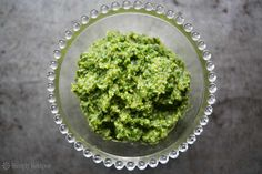 Walnut Parsley Pesto ~ A traditional winter pesto made from parsley and walnuts instead of basil and pine nuts. ~ SimplyRecipes.com