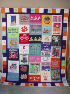 CLEMSON TIGERS! Tshirt Quilts made from your memories by BarbMalmTshirtQuilts on Etsy