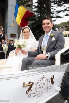 Prince Nicholas of Romania and Princess Alina of Romania leave after their wedding at Sfantul IIie church on September 2018 in Sinaia, Romania. (Photo by David Niviere/Getty Images) Von Hohenzollern, Royal House, Set You Free, Still Image, Romania, Royalty, Princess, Civilization, Queens