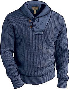Men's Shawl Collar Sweater