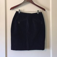 United colors of Benetton skirt Suede, made in Italy, navy blue United Colors Of Benetton Skirts