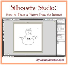 Clipart Silhouette Studio (tracing picture from internet for Silhouette Cameo) - Doyle Dispatch