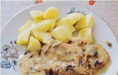 Schab w sosie serowym