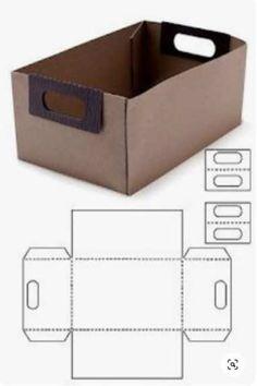Diy Gift Box, Diy Box, Diy Paper Box, Cardboard Box Crafts, Paper Crafts, Paper Box Template, Origami Templates, Box Templates, Scrapbook Box
