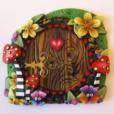 Wonderland Fairy Door by Claybykim on Etsy, $22.00