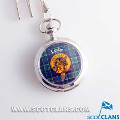 Leslie Clan Crest Pocket Watch