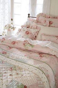 Pretty pink bedding.