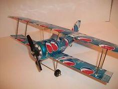 Aluminum Soda Can Handcrafted Airplane Pepsi Next Bi Plane