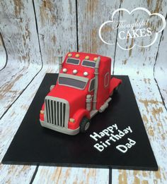 semi truck cakes for men Birthday Cakes For Men, Truck Birthday Cakes, Happy Birthday Dad, Cakes For Boys, Birthday Fun, Cupcakes, Cupcake Cakes, Semi Truck Cakes, Cake Decorating Tutorials