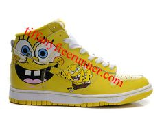 low priced 98051 cfe8b Spongebob Squarepants Nikes Dunk Shoes Nike Kvinder, Tekstiler, Gule Sko,  Outfit, Svampebob