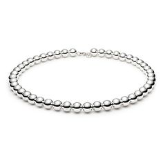 Tiffany Beads necklace in sterling silver. So happy my Mom has a few of these! Passed them on to me :-) Happy girl!