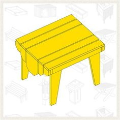 Build an Adirondack Table - Free Project Plan: This simple little adirondack table is easy and fun to build. With butt joints and waterproof glue, you'll spend very little time building this project compared with how long you'll be able to enjoy it.
