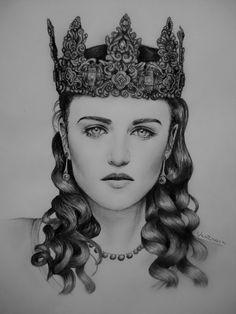 Qween Morgana by ~venikova on deviantART (Morgana Pendragon, Katie McGrath, Merlin Fanart)
