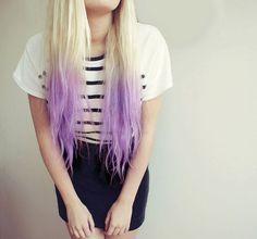 Pinterest: @Mer_Elise • Pretty Blonde to Lilac Ombré