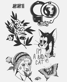 Art collection💥 on I Kritzelei Tattoo, Doodle Tattoo, Doodle Art, Tattoo Design Drawings, Tattoo Sketches, Art Drawings, Tattoo Designs, Art Sketches, Flash Art Tattoos