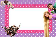Invitaciones de Enredados (Rapunzel) para imprimir gratis.