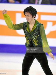 Shoma Uno of Japan reacts after competing in the Men's Singles Free Skating during day three of the ISU Grand Prix of Figure Skating Final at the Barcelona International Convention Centre on December 12, 2015 in Barcelona, Spain.