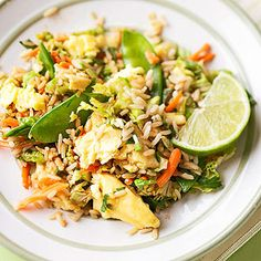 Toss the takeout in favor of this one-dish Fried Rice #recipe. Filled with colorful #veggies and spicy flavors, it's a bold addition to any Asian-inspired meal.