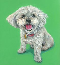 Custom Pet Portrait, dog painting, dog portrait, custom pet painting, acrylic on a 12x12 wooden canvas board