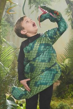 snake-eating boy costume