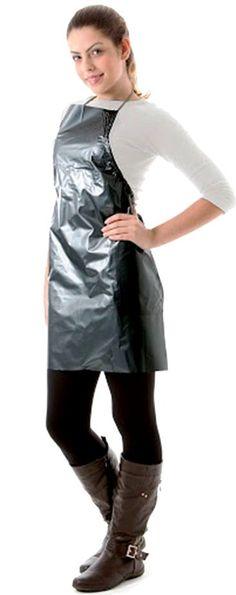 Nylons, Plastic Aprons, Blouse Nylon, Pvc Apron, Hairdresser, High Neck Dress, Female, Dresses, Fashion