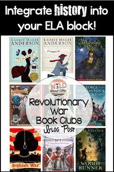 Revolutionary War Book Clubs - Wild about fifth grade Social Studies Notebook, 4th Grade Social Studies, Teaching Social Studies, Literature Books, History Books, Women's History, Book Club Books, Book Clubs, Lap Books