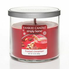 Yankee Candle simply home 10-oz. Frosted Cinnamon Tumbler Candle