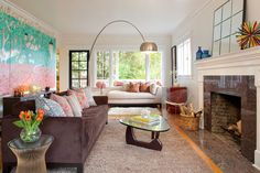 Chaise Lounge Design, Pictures, Remodel, Decor and Ideas - page 16 houzz like this design for a long narrow room Eclectic Living Room, Living Room Designs, Living Room Decor, Living Spaces, Living Rooms, Long Narrow Rooms, Couch Design, Lounge Design, Pillow Design