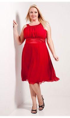 vestido rojo strapless para gorditas - Buscar con Google