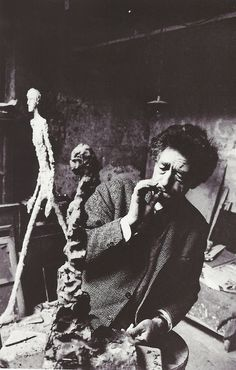 Alberto Giacometti dans son atelier, Paris, 1960, René Burri