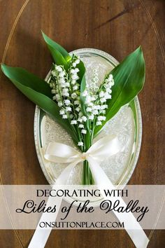 Lilies of the Valley | See how to arrange this delicate perennial in small containers.