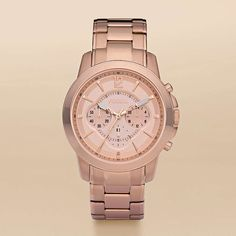FOSSIL® Features A Touch of Rose:Women Grant Plated Stainless Steel Watch – Rose FS4635