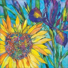 Art by Sofía Perina Miller Sunflower Art, Watercolor Sunflower, Watercolor Flowers, Sunflower Paintings, Watercolor Artists, Watercolor Paintings, Watercolours, Sharpie Art, Fractal Art