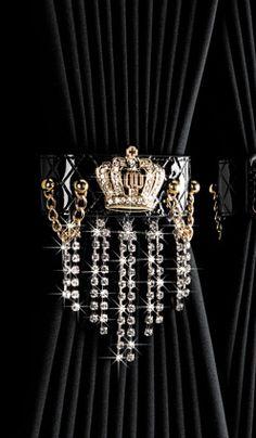 crown to drape draperies   GARSON   LUXURY CURTAIN TASSEL type CROWN