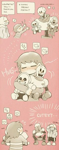 Look at frisk with the plushies how cute Frans Undertale, Undertale Love, Undertale Memes, Undertale Fanart, Undertale Comic, Frisk, Undertale Shorts, Kevedd, Sans Cute