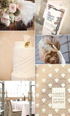 More Gatsby Wedding decor Great Gatsby Theme, Great Gatsby Fashion, Great Gatsby Wedding, 1920s Wedding, Gatsby Party, Art Deco Wedding, Wedding Themes, Perfect Wedding, Wedding Colors
