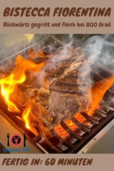 Perfekt rückwärts auf dem Gasgrill gegart. Butterzartes Fleisch und herrliche Röstaromen - lecker! #t-bone #bistecca #fiorentina #grill #gasgrill #rückwärts gegrillt T Bone Steak, Cheesesteak, Bbq, Restaurant, Ethnic Recipes, Outdoor, Food, Gourmet, Roast Beef