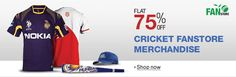 Flat 75% Off on Cricket Merchandise | DribblingMan.com #DribblingMan #FIFAWorldCup