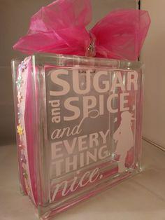 Sugar and Spice nightlight block