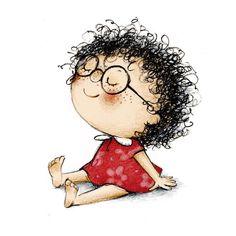 Los niños necesitan ser felices, no ser los mejores Cute Girl Drawing, Cute Drawings, Art And Illustration, Whimsical Art, Doodle Art, Cute Cartoon, Cute Wallpapers, Cute Art, Art Sketches