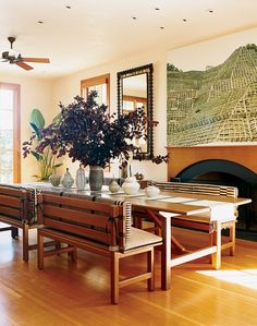 Beautiful dining rooms dining rooms and vogue on pinterest for Most beautiful dining rooms