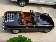 MG B Roadster - The Black with Autumn Oak interior combination