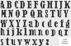 Brain Clutter: Cross stitch alphabet #12