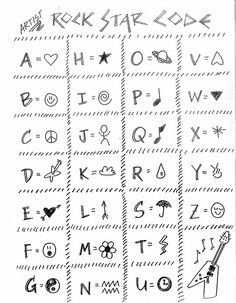 Sign Language Words, Sms Language, Sign Language Alphabet, Alphabet Code, Alphabet Symbols, Art Projects For Adults, Toddler Art Projects, Diy Projects, Escape Room Puzzles