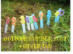 Outdoor number hunt