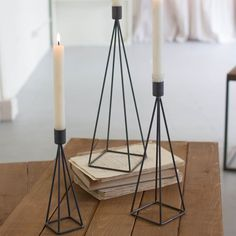 Kalalou Raw Metal Wire Pyramid Candle Holders - Set Of 6 Hurricane Candle Holders, Metal Candle Holders, Candle Stand, Candle Set, Candle Lanterns, Candle Sconces, Copper Mirror, Flower Holder, Tea Light Holder